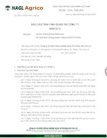 Báo cáo tình hình quản trị công ty - Công ty cổ phần Nông nghiệp Quốc tế Hoàng Anh Gia Lai