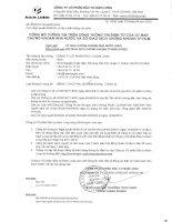 Nghị quyết Đại hội cổ đông - Công ty cổ phần Đầu tư Nam Long