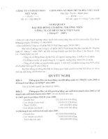 Nghị quyết đại hội cổ đông ngày 27-07-2009 - Công ty Cổ phần Đầu tư và Xây dựng BDC Việt Nam