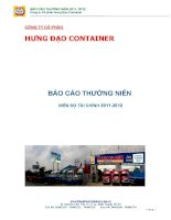 Báo cáo thường niên năm 2011 - Công ty Cổ phần Hưng Đạo Container