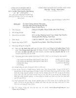 Báo cáo tài chính hợp nhất quý 3 năm 2014 - Công ty Cổ phần Nhựa Thiếu niên Tiền Phong