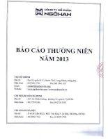 Báo cáo thường niên năm 2013 - Công ty Cổ phần Ngô Han