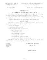 Nghị quyết Hội đồng Quản trị ngày 26-1-2011 - Công ty Cổ phần Sách và Thiết bị trường học Long An