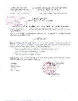 Nghị quyết Hội đồng Quản trị ngày 25-4-2011 - Công ty Cổ phần Điện lực Khánh Hòa