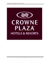BÁO cáo THỰC tập tốt NGHIỆP cơ sở thực tập KHACH  sạn CROW PLAZA