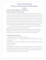 Báo cáo thường niên năm 2011 - Công ty cổ phần Tập đoàn Thiên Quang