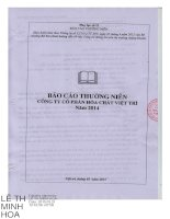 Báo cáo thường niên năm 2014 - Công ty Cổ phần Hóa chất Việt Trì