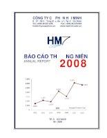 Báo cáo thường niên năm 2008 - Công ty Cổ phần Hải Minh