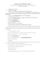 Báo cáo thường niên năm 2012 - Công ty Cổ phần Bến xe Tàu phà Cần Thơ