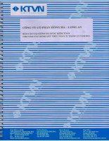 Báo cáo tài chính năm 2011 (đã kiểm toán) - Công ty Cổ phần Hồng Hà Long An