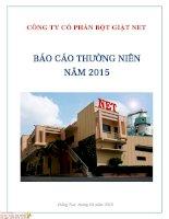 Báo cáo thường niên năm 2015 - Công ty Cổ phần Bột giặt Net