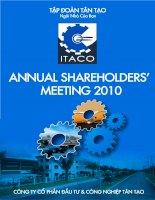 Báo cáo thường niên năm 2009 - Công ty Cổ phần Đầu tư và Công nghiệp Tân Tạo