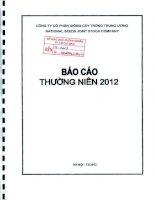 Báo cáo thường niên năm 2011 - Công ty cổ phần Giống cây trồng Trung ương