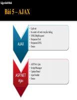 Giáo trình thiết kế Webside bằng Visual Studio 2008 Bài 5: Kỹ Thuật 5 Ajax  ASP.NET Ajax
