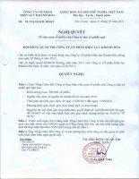 Nghị quyết Hội đồng Quản trị ngày 31-5-2011 - Công ty Cổ phần Điện lực Khánh Hòa