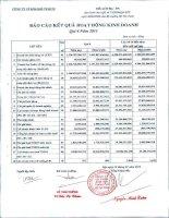 Báo cáo tài chính quý 4 năm 2011 - Công ty Cổ phần Kim khí Thành phố Hồ Chí Minh