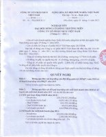Nghị quyết Đại hội cổ đông thường niên năm 2011 - Công ty Cổ phần Đầu tư và Xây dựng BDC Việt Nam