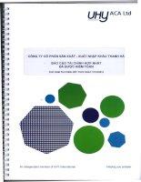 Báo cáo tài chính hợp nhất năm 2015 (đã kiểm toán) - Công ty cổ phần Sản xuất - Xuất nhập khẩu Thanh Hà