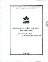 Báo cáo tài chính hợp nhất quý 2 năm 2011 - Công ty cổ phần Giống cây trồng Trung ương