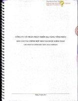 Báo cáo tài chính hợp nhất năm 2014 (đã kiểm toán) - Công ty Cổ phần Phát triển Hạ tầng Vĩnh Phúc