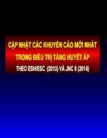 CẬP NHẬT CÁC KHUYẾN CÁO MỚI NHẤT TRONG ĐIỀU TRỊ TĂNG HUYẾT ÁPTHEO ESHESC  (2013) VÀ JNC 8 (2014)
