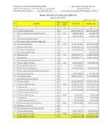 Báo cáo tài chính quý 4 năm 2011 - Công ty Cổ phần Xuất nhập khẩu Khoáng sản Hà Nam