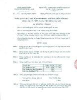 Nghị quyết Đại hội cổ đông thường niên năm 2013 - CTCP Hàng Tiêu dùng Masan - Masan Consumer