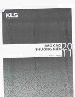 Báo cáo thường niên năm 2011 - Công ty Cổ phần Chứng khoán Kim Long