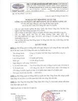 Nghị quyết Hội đồng Quản trị ngày 04-04-2011 - Công ty Cổ phần Chế biến Hàng xuất khẩu Long An