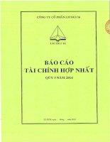 Báo cáo tài chính hợp nhất quý 3 năm 2014 - Công ty cổ phần LICOGI 16