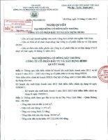 Nghị quyết đại hội cổ đông ngày 16-11-2011 - Công ty cổ phần Đầu tư và Xây dựng HUD3