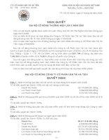 Nghị quyết đại hội cổ đông ngày 27-04-2009 - Công ty Cổ phần Vận tải Hà Tiên