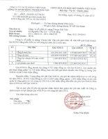 Báo cáo tài chính quý 4 năm 2014 - Công ty Cổ phần Xi măng Vicem Hải Vân