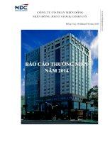 Báo cáo thường niên năm 2014 - Công ty Cổ phần miền Đông