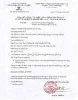 Nghị quyết Hội đồng Quản trị - Công ty Cổ phần Phát triển Đô thị Từ Liêm