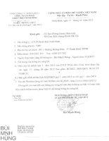 Báo cáo tài chính quý 1 năm 2015 - Công ty Cổ phần Nhiệt điện Ninh Bình