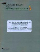 Báo cáo tài chính quý 2 năm 2012 (đã soát xét) - Công ty Cổ phần Phát triển Hạ tầng Kỹ thuật