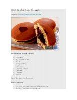 Cách làm bánh rán dorayaki