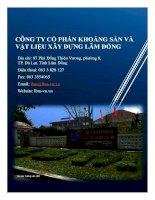 Báo cáo thường niên năm 2015 - Công ty Cổ phần Khoáng sản và Vật liệu xây dựng Lâm Đồng