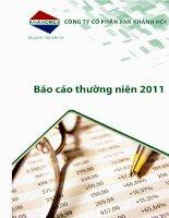 Báo cáo thường niên năm 2011 - Công ty Cổ phần Đầu tư và Dịch vụ Khánh Hội