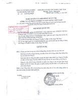 Nghị quyết Hội đồng Quản trị ngày 16-11-2009 - Công ty Cổ phần Cơ điện và Xây dựng Việt Nam