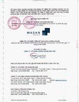 Bản cáo bạch - Công ty Cổ phần Tập đoàn MaSan