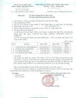 Báo cáo tài chính quý 1 năm 2016 - Công ty Cổ phần Xây lắp Phát triển Nhà Đà Nẵng