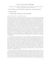 Báo cáo thường niên năm 2009 - Công ty Cổ phần Đầu tư Xây dựng Lương Tài
