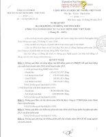 Nghị quyết Hội đồng Quản trị - Công ty Cổ phần Đầu tư và Xây dựng BDC Việt Nam