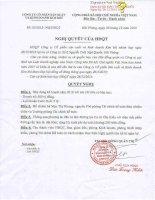 Nghị quyết Hội đồng Quản trị - Công ty Cổ phần Sản xuất và Kinh doanh Kim khí