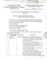 Báo cáo tình hình quản trị công ty - Công ty cổ phần Than Mông Dương - Vinacomin