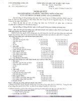 Nghị quyết Đại hội cổ đông thường niên năm 2011 - Công ty Cổ phần Chế biến Hàng xuất khẩu Long An