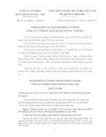 Nghị quyết đại hội cổ đông ngày 12-04-2011 - Công ty cổ phần Than Mông Dương - Vinacomin