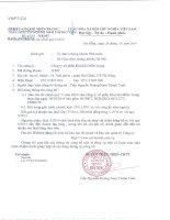 Báo cáo tài chính quý 3 năm 2014 - Công ty cổ phần Kim khí miền Trung